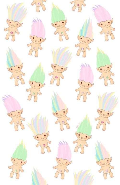 Trolls | We Heart It Pattern Wallpaper, Cute Backgrounds, Cellphone Wallpaper, Embellishments,