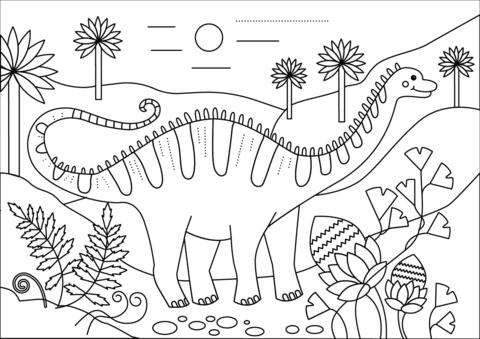 Apatosaurus Dino Coloring Page Free Printable Coloring Pages Dinosaur Coloring Pages Printable Coloring