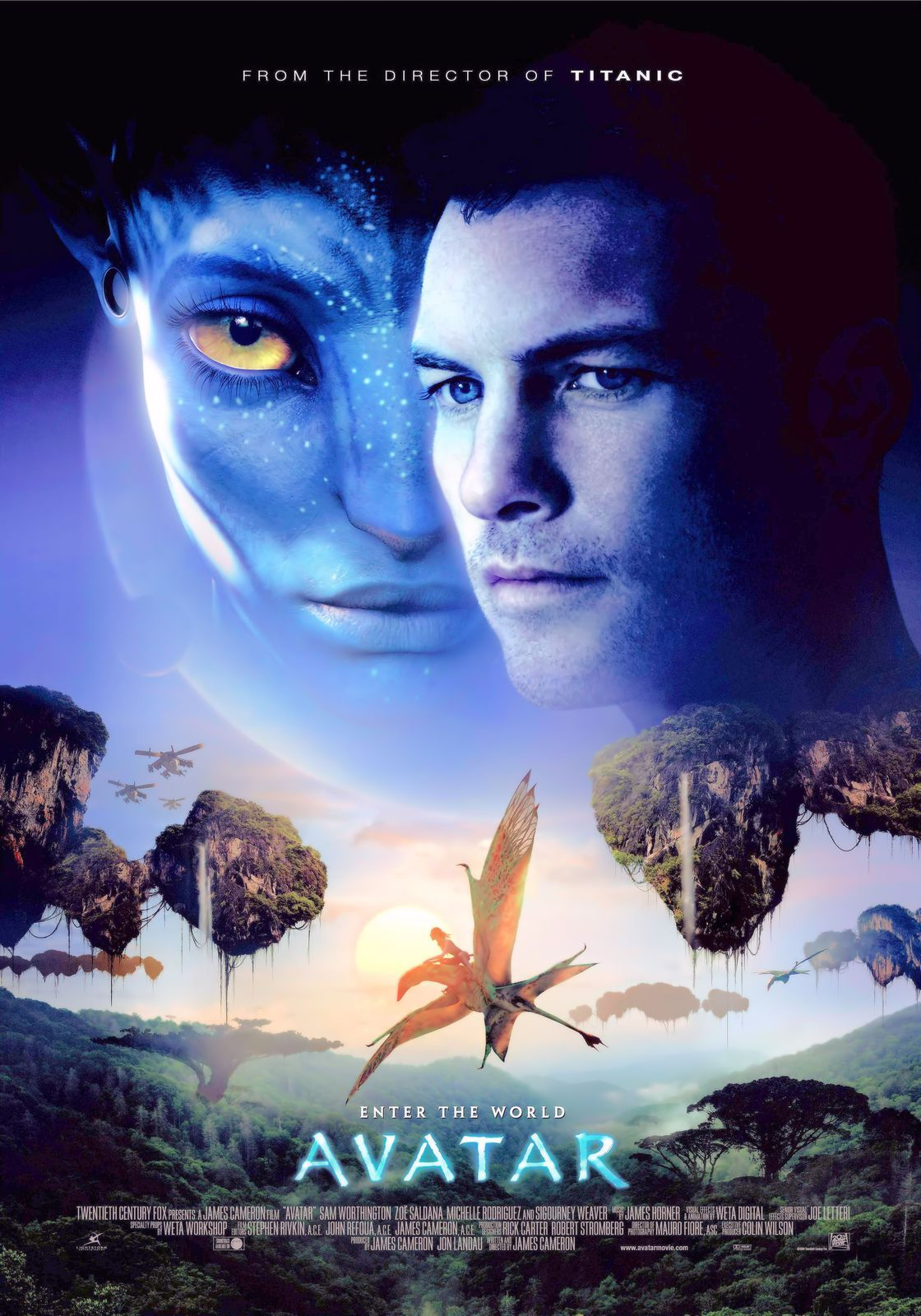 Avatar 2009 001 27 x 40 movie poster on premium photo