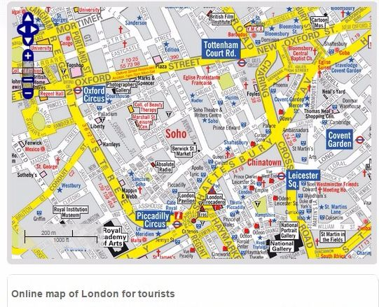 Visitors Map of London A Z Maps London Street Maps