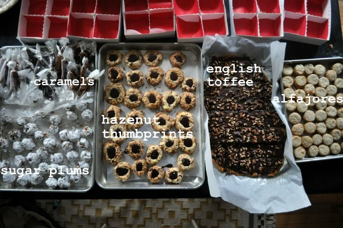 Christmas cookie & toffee gifts