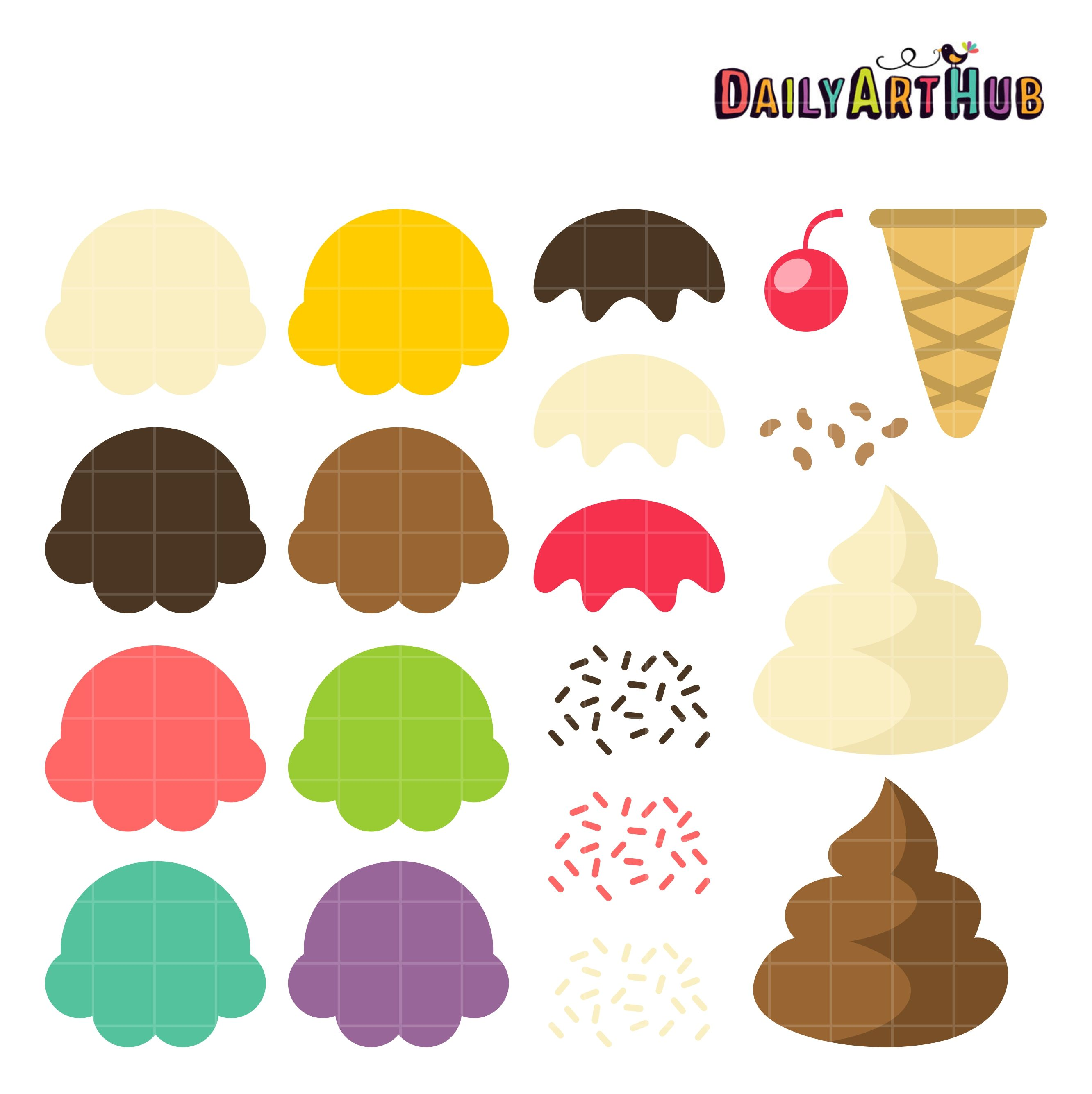 Free your ice cream cone clip art set also daily sets rh pinterest