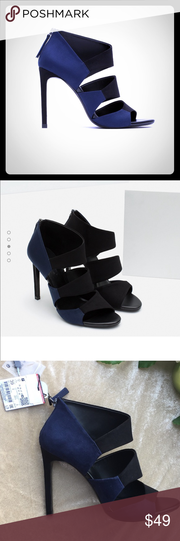 ad3cdf297515 ZARA Two toned high heel sandal. NIB. Sz.8 These are stunning