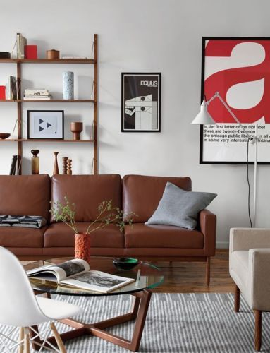 Raleigh Sofa Granite Boucle Dwr Design Within Reach Midcentury