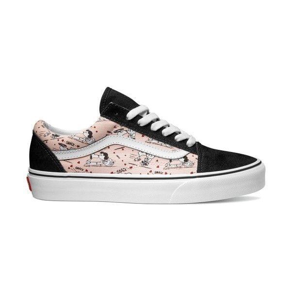 Women's Vans X Peanuts Old Skool Snoopy Kisses Sneaker ($70