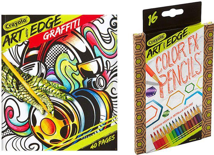 Crayola Art With Edge Graffiti Coloring Book 16 Ct Color Fx