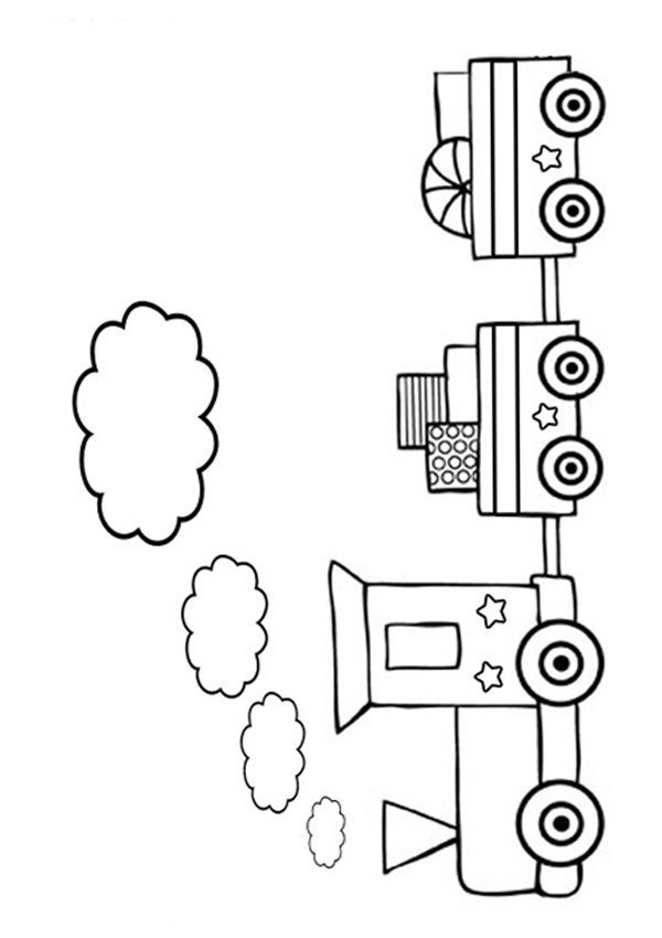 Free Online Colouring Pages Print And Colour In This Picture Of A Train Or Train Coloring Page Train Coloring Pages Coloring Pages Free Online Coloring