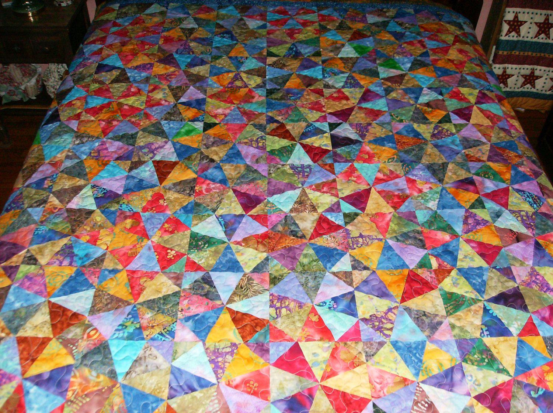 Kaleidoscope Pattern in Batiks by madeinUSAbyLinda on Etsy  SOLD