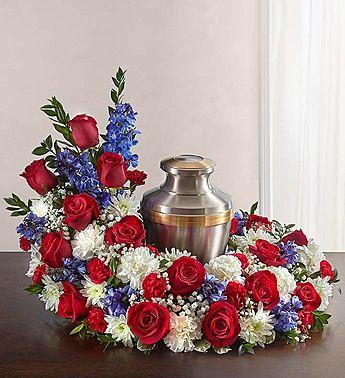 Patriotic 1 800 Flowers Com Funeral Flower Arrangements Funeral Floral Arrangements Funeral Floral
