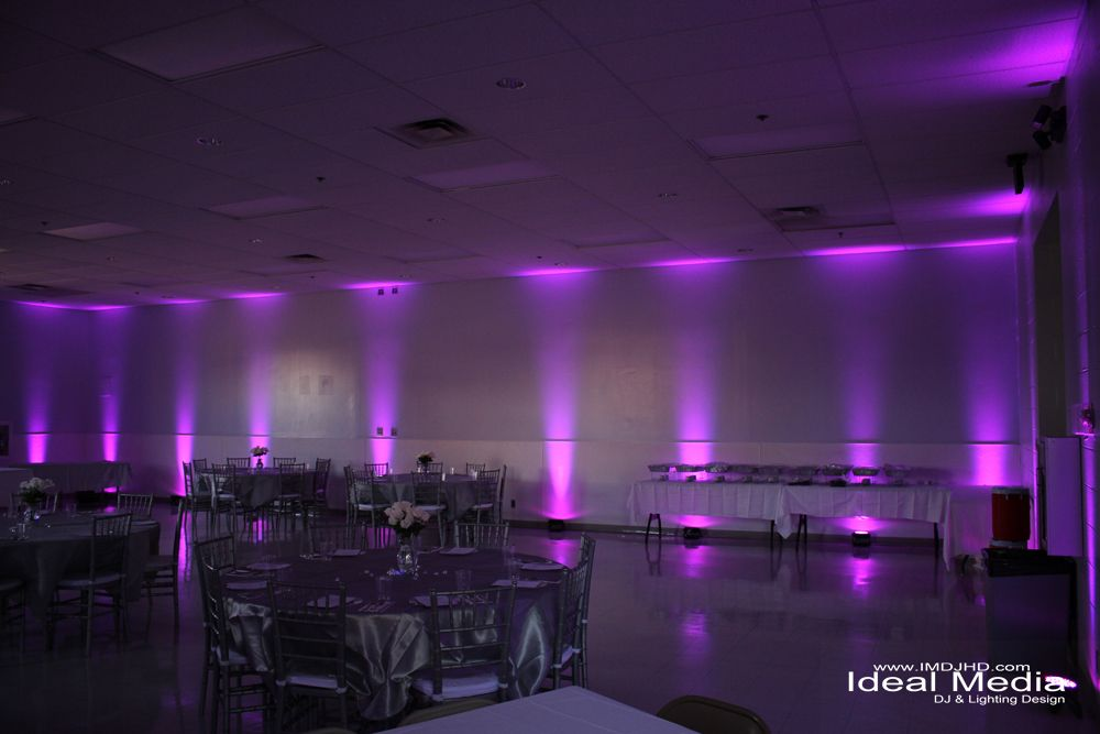 Light Purple Uplighting For An Anniversary Party At The