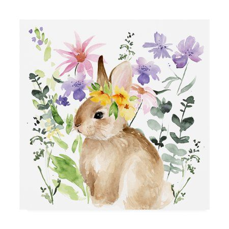 Trademark Fine Art 'Watercolor Spring Garden I' Ca