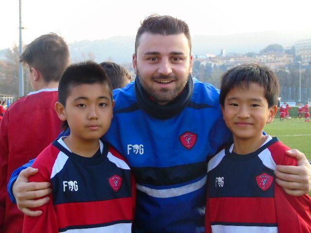 La Perugia Japan Soccer School in visita al Curi