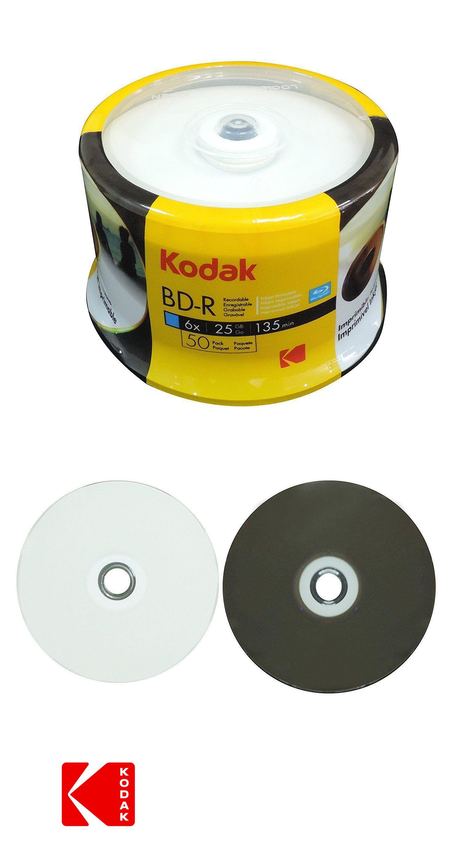 graphic relating to Printable Blu Ray Discs identify CD DVD and Blu-ray Discs 80135: 50 Kodak 6X Blank Bd-R Blu