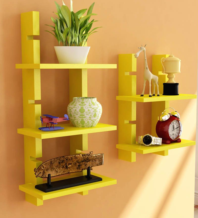Buy Home Sparkle Yellow Ladder Shelf By Home Sparkle Online From Pepperfry.  ✓Exclusive Offers