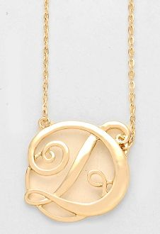 Monogram initial necklace 15 letter d pendant gold chain monogram initial necklace 15 letter d pendant gold chain aloadofball Gallery