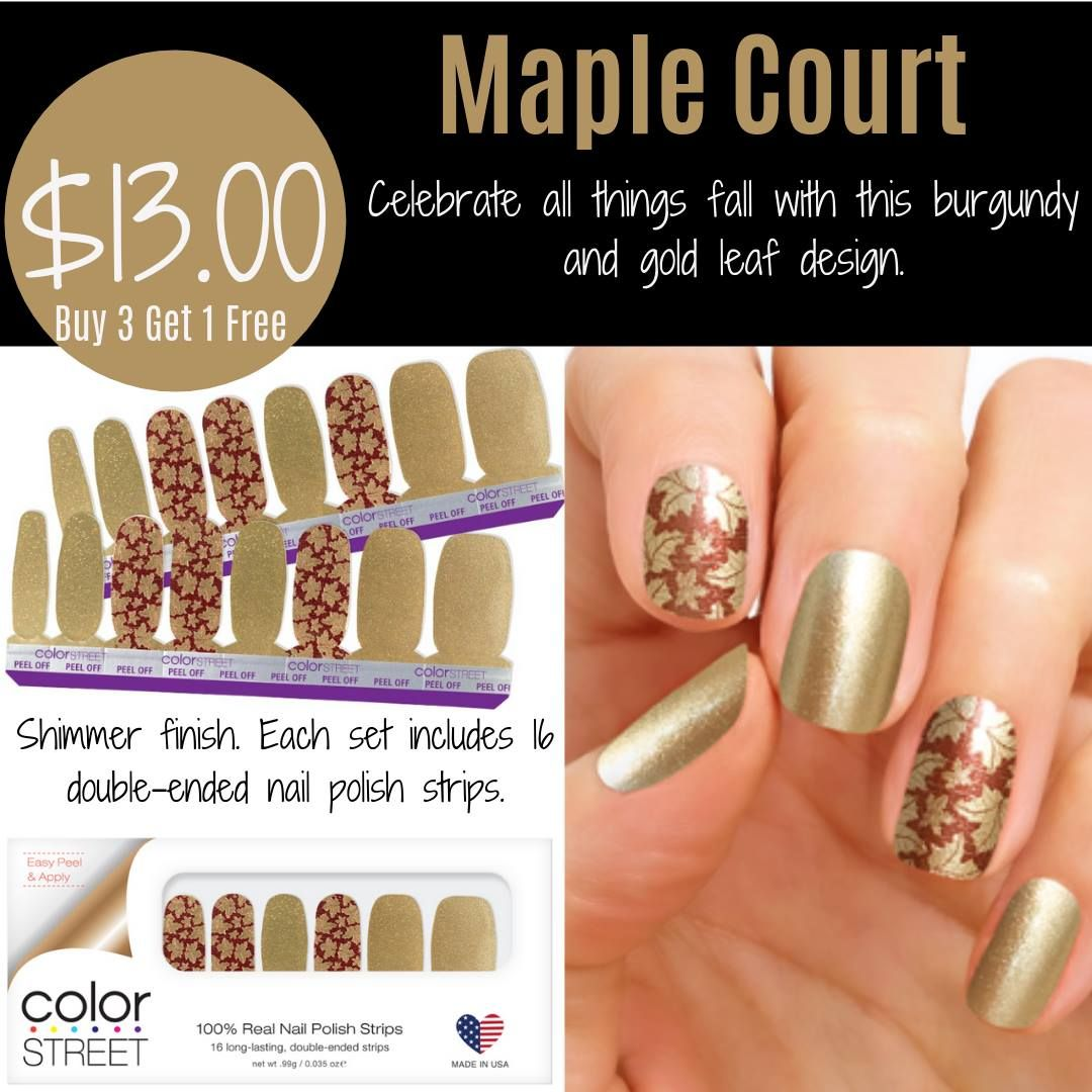 Color Street Maple Court Nail Polish Strips Color Street Nail Polish