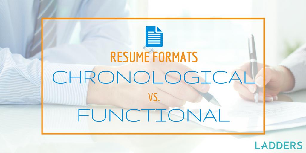 Functional Resume Format vs Chronological Resume Format