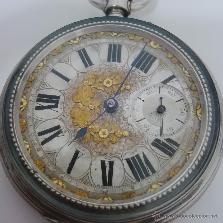 diseñador de moda Venta de liquidación gran selección de 2019 Antiguo y espectacular reloj de bolsillo de plata y esfera ...