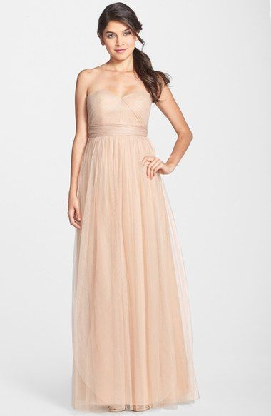 Jenny Yoo Annabelle Convertible Tulle Column Dress Available At Nordstrom