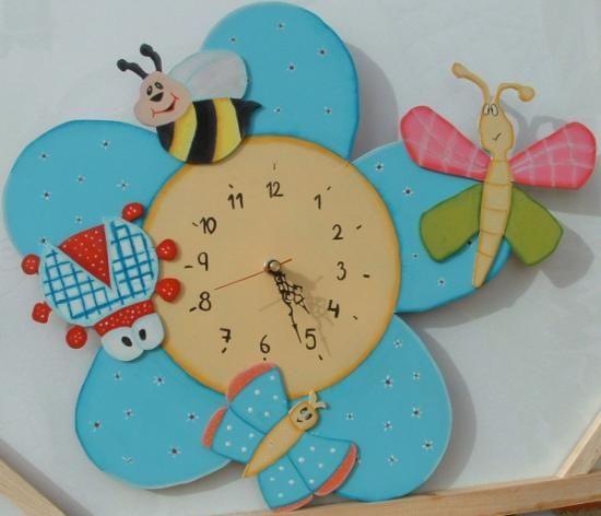 Reloj infantil bichitos | Para peques | Reloj decoracion ...