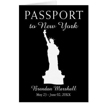New York City 21ST Birthday Passport Card