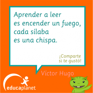 Víctor Hugo: aprender a es encender un fuego... #leer #citas #lectoescritura #lectura #quotes Educaplanet