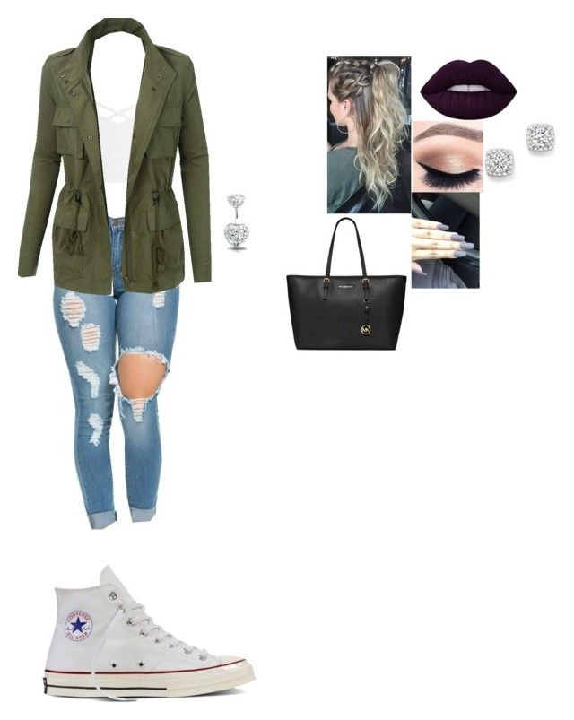 """""""Untitled #20"""" by kaitlinbaum ❤ liked on Polyvore featuring interior, interiors, interior design, home, home decor, interior decorating, Sans Souci, LE3NO, Converse and Lime Crime"""