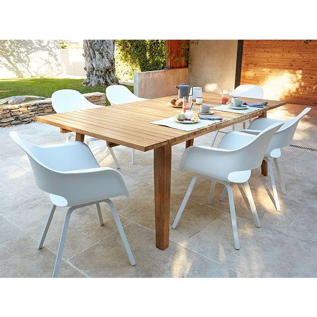fauteuil de jardin en r sine kota blanc ensemble jardin. Black Bedroom Furniture Sets. Home Design Ideas