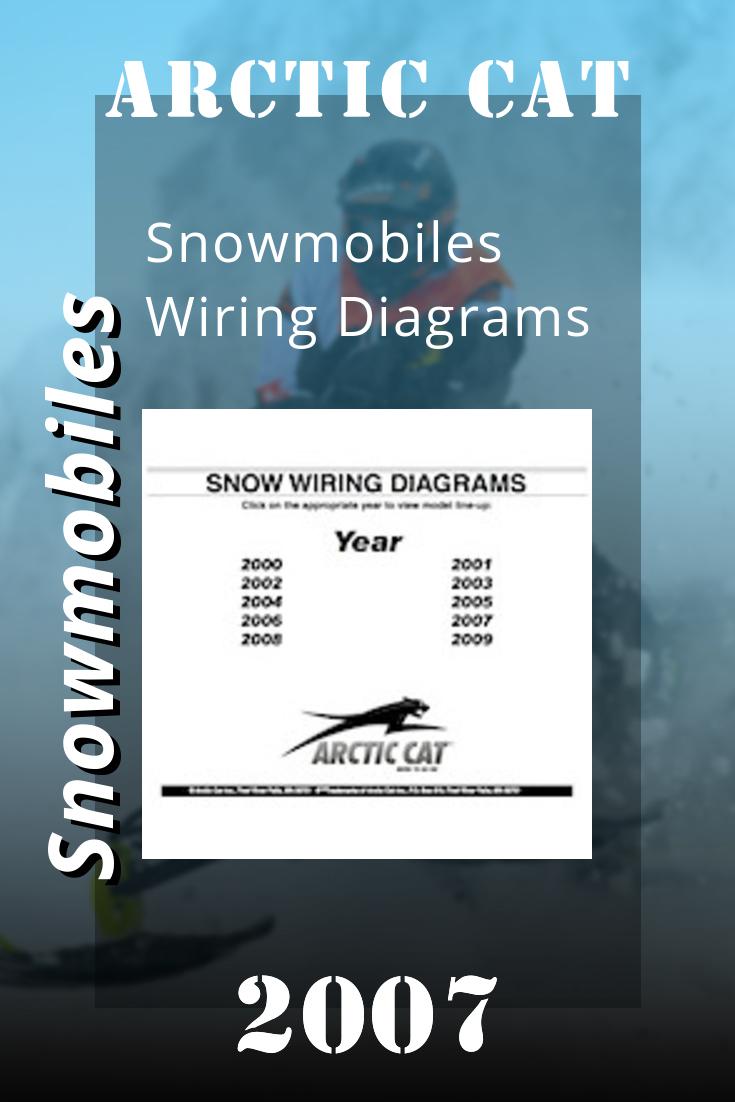 2007 Arctic Cat Snowmobiles Wiring Diagrams Arctic Snowmobile Cats