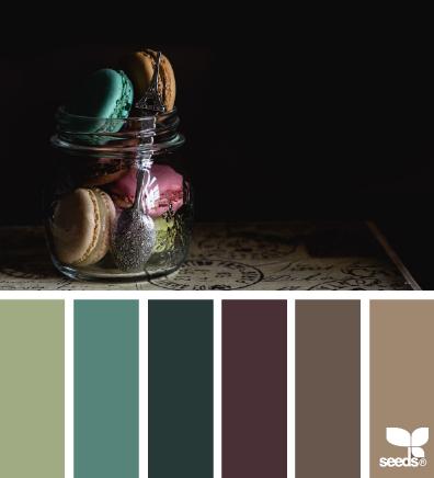 Macaron hues | design seeds | Bloglovin' jewel tone inspiration brown paint inspiration furniture upholstery reupholster