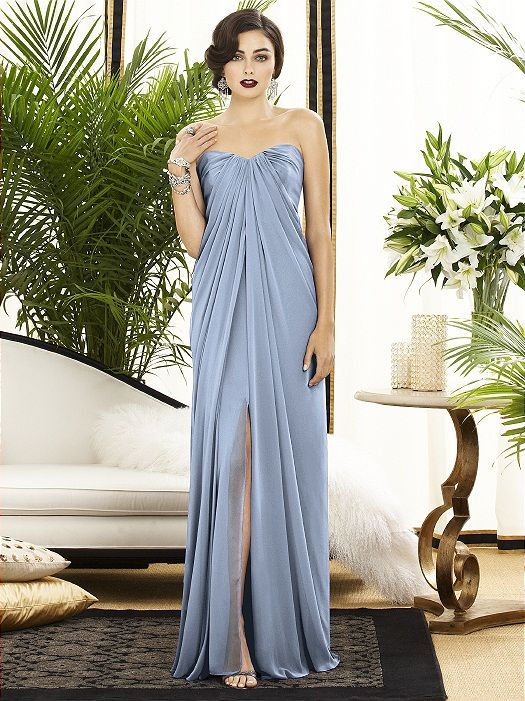 We Love The Gorgeous Neckline On This Dessy Gown!