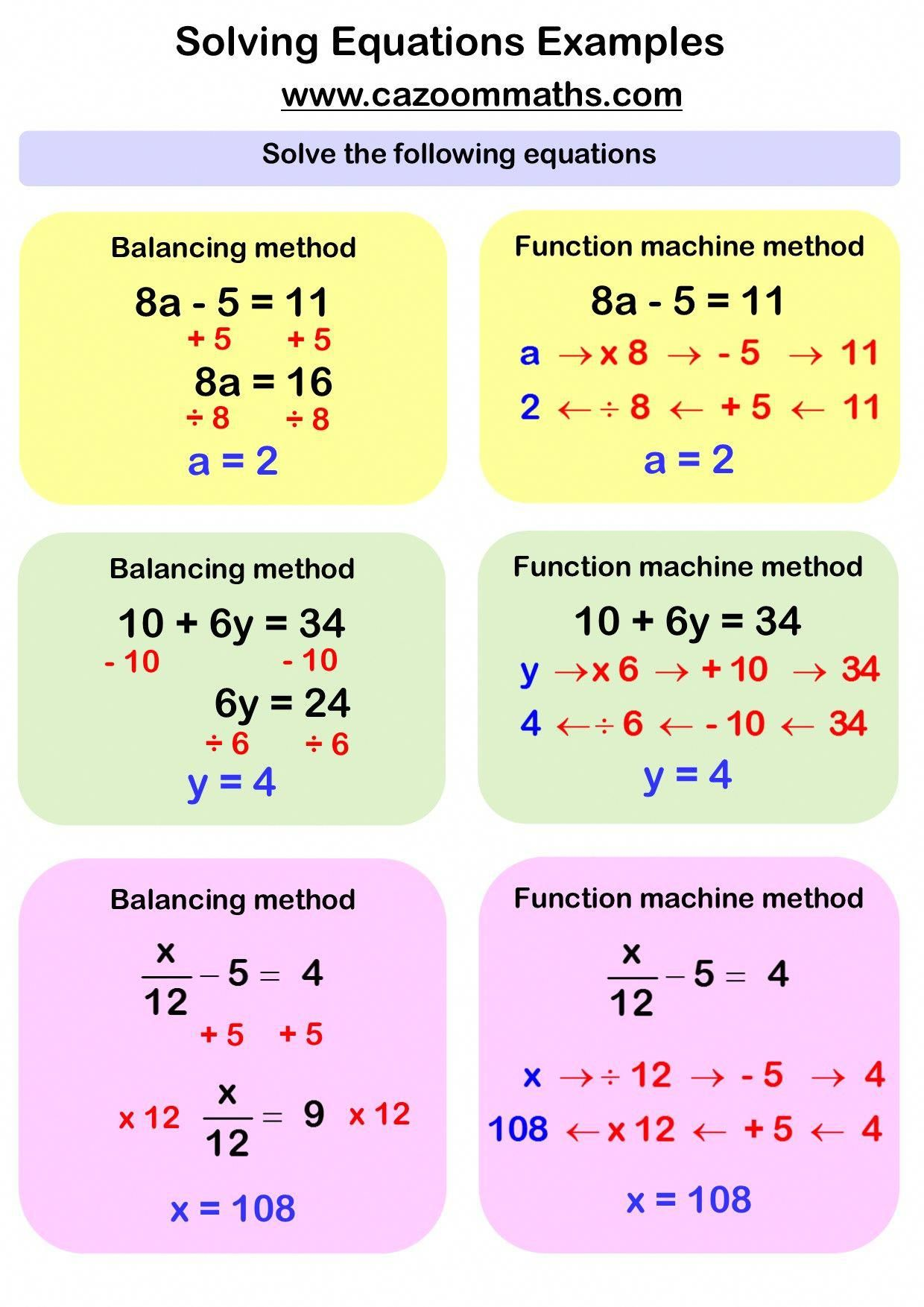 Solving Linear Equations Example Learnmathematics Algebra Worksheets Studying Math Solving Linear Equations [ 1754 x 1240 Pixel ]