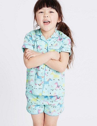 Pure Cotton All Over Print Pyjamas (9 Months - 8 Years) | Marks & Spencer London