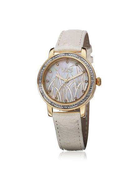 Burgi Women's BUR096YGW Cream/Gold Grass Dial Watch, http://www.myhabit.com/redirect/ref=qd_sw_dp_pi_li?url=http%3A%2F%2Fwww.myhabit.com%2Fdp%2FB00J7H9DXC