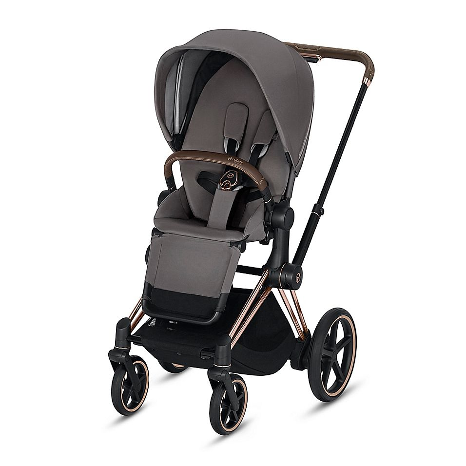 Cybex Platinum EPriam Stroller With Rose Gold Frame And