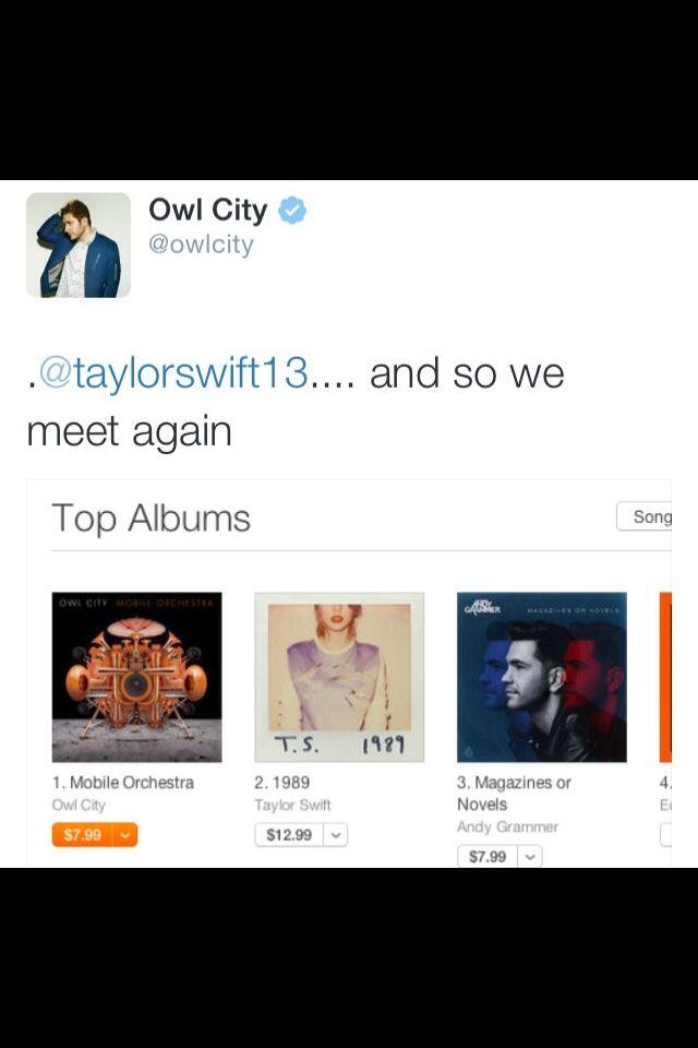 enchanted taylor swift owl city