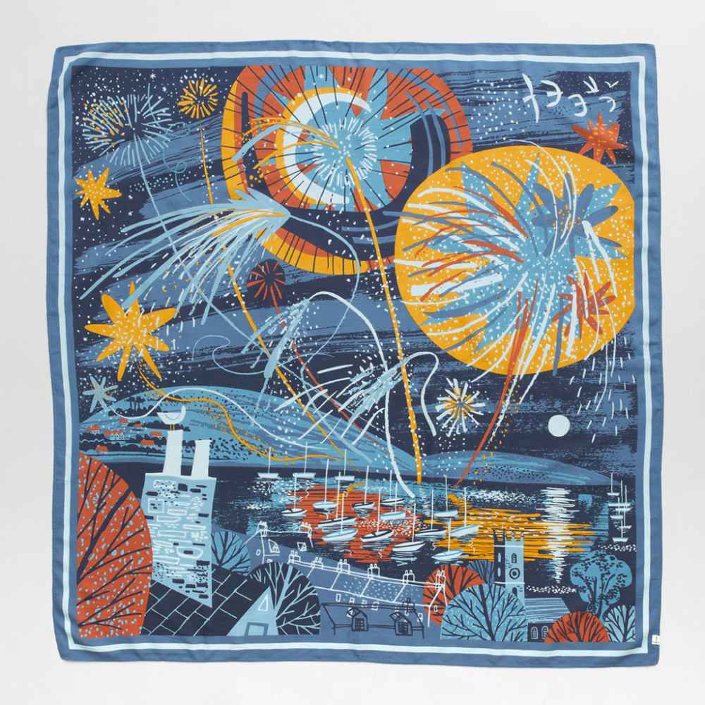 Small Scenic Scarf in 2020 Screen printing, Illustration
