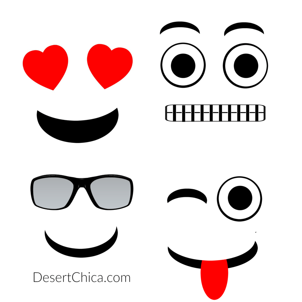 Sweet image in emoji faces printable