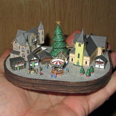 Tiny Papercraft Christmas Village | Craft Ideas | Juguetes