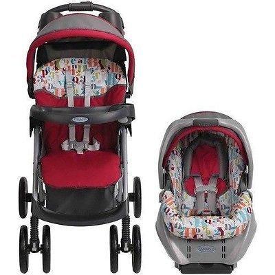 Graco Stroller & Infant Car Seat Travel System Jogging Spree Gecko