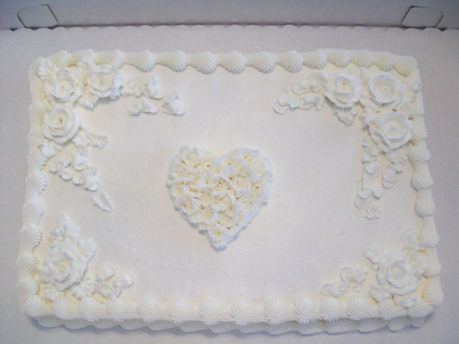 Romance Wedding Sheet Cake This Cake Is A Sheet Cake I Did For A
