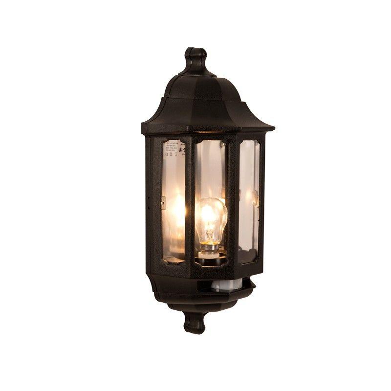ASD Lighting Coach Half Lantern Outdoor Wall Light With PIR Sensor