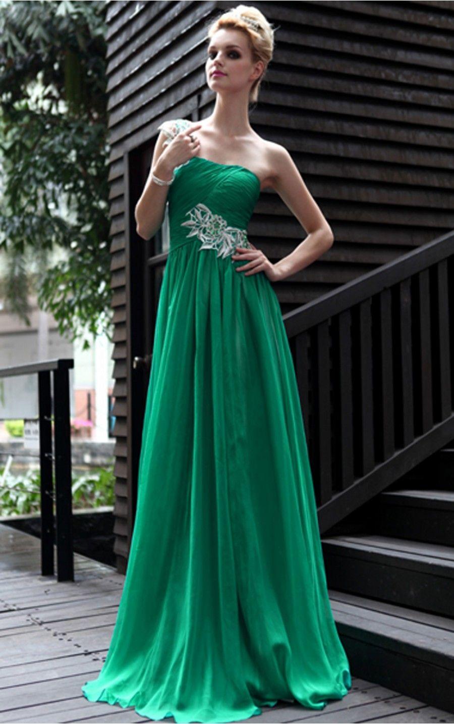 green wedding dress  Abendkleid grün, Kleider für bälle, Grüne