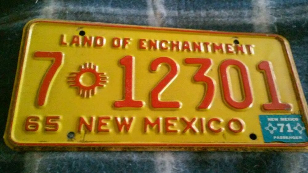 1965 New Mexico License Plate Man Cave Vintage Antique Tag | Stuff ...