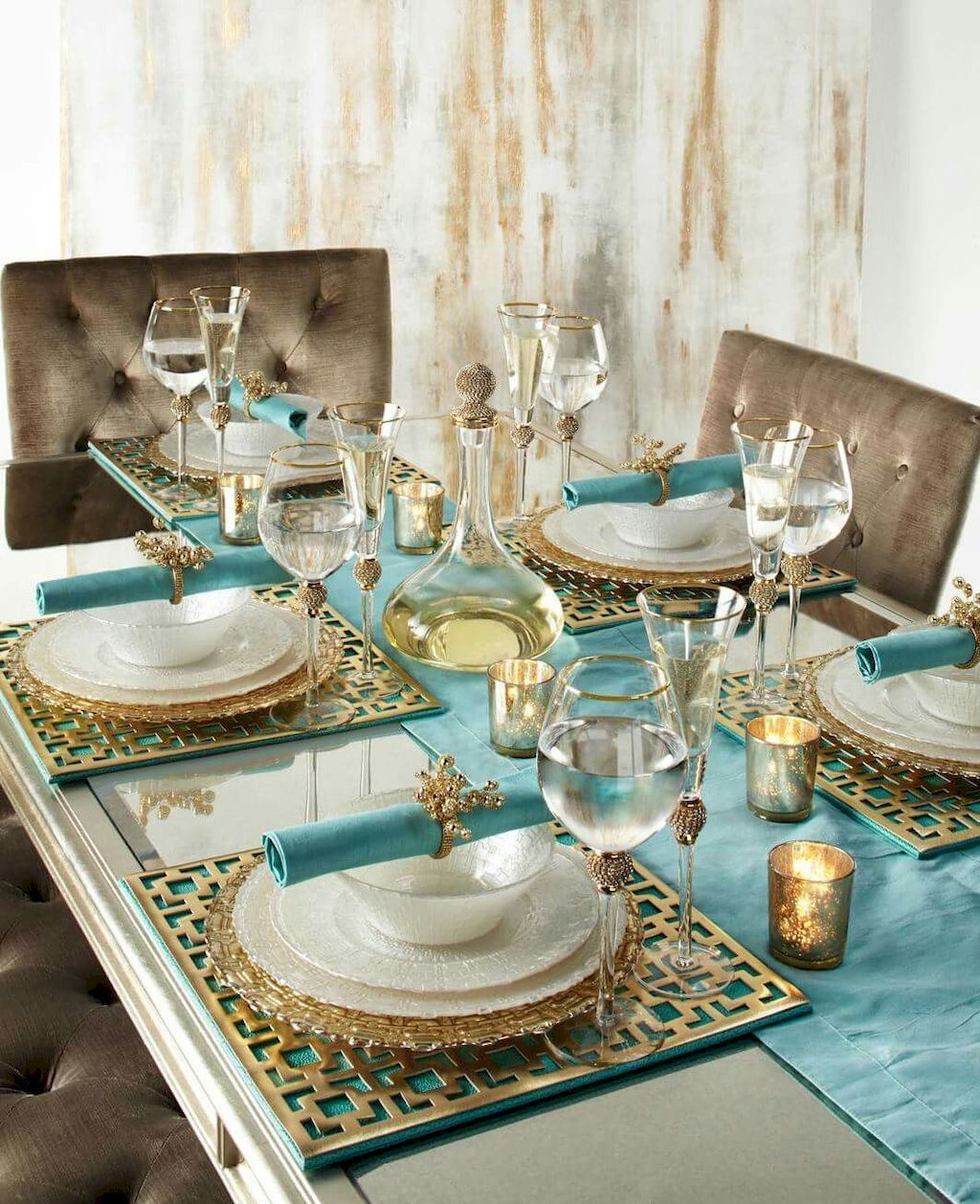 Luxury Dining Room Decoration Ideas Home To Z Table Setting Inspiration Dining Table Decor Gold Dining