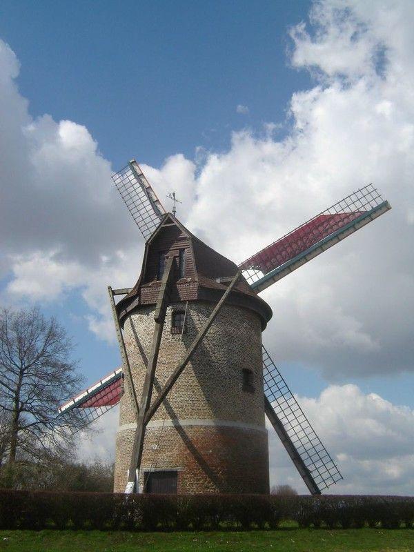 le moulin de Vertain à Templeuve (59) | Covered Bridges/Windmills ...