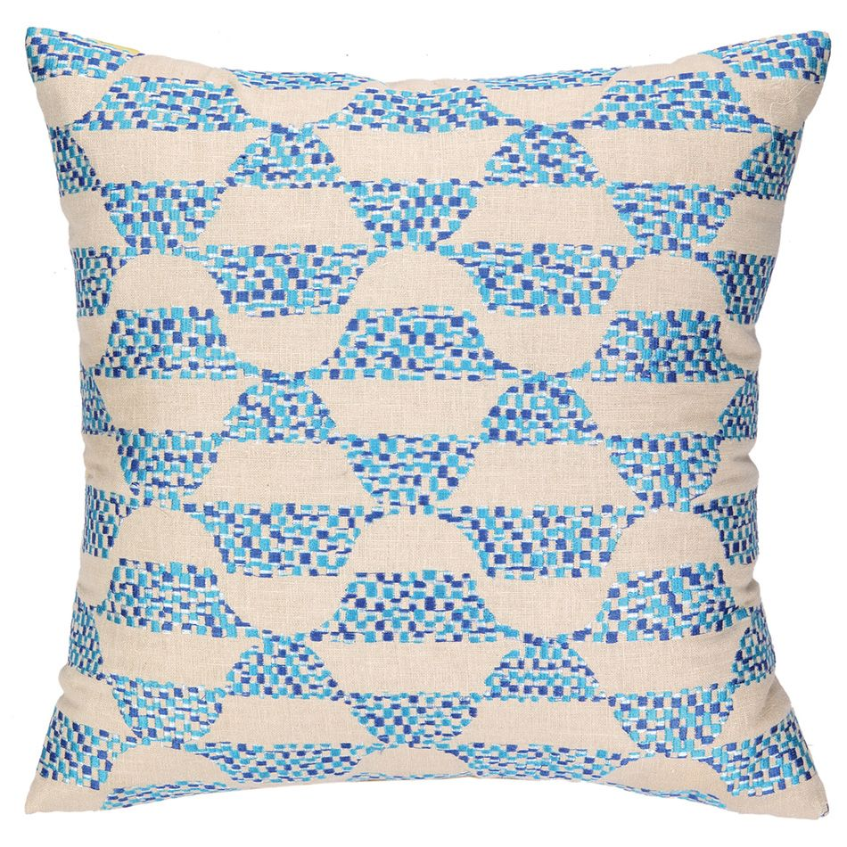 detail trina sq pillow outdoor pillows cover santorini turk navy