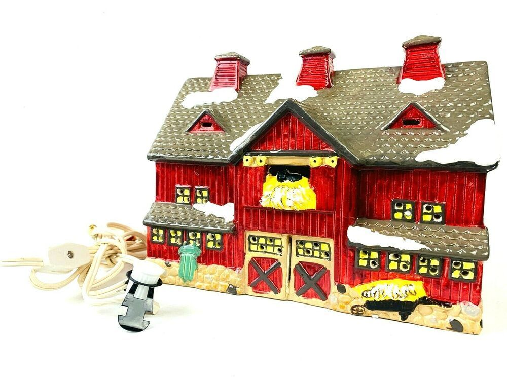 Department 56 1987 Red Barn Original Snow Village Building  #5081-4 Retired #Department56 #department56 Department 56 1987 Red Barn Original Snow Village Building  #5081-4 Retired #Department56 #department56