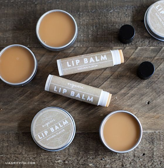 DIY Organic Lip Balm and free printable labels