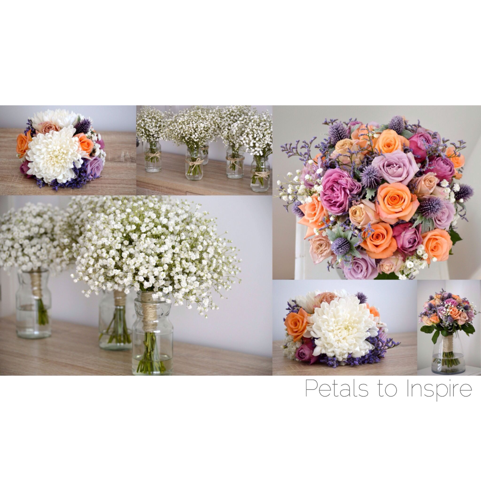 Vintage theme wedding - Peach, orange lilac, purple and white ...